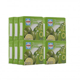 GREENS LIME  JELLY 80G - 12 PCS