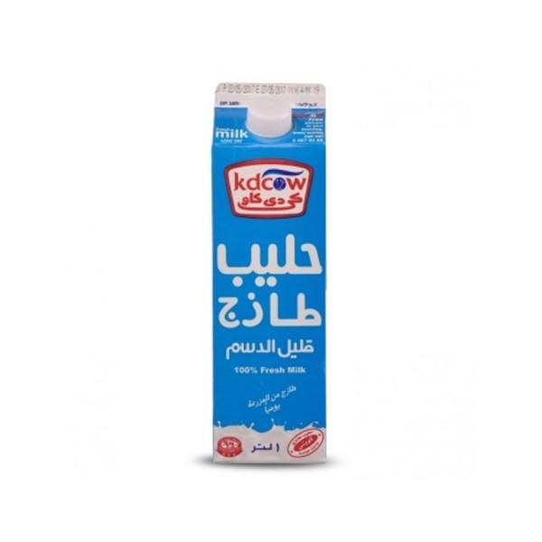 كي دي كاو حليب طازج قليل الدسم 1 لتر