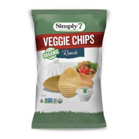 سمبلي7 شيبس الخضروات العضوية بنكهة الرانش 99 غ