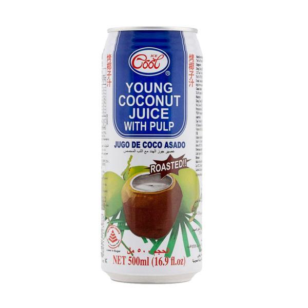 ايسى كول مشروب جوز الهند المحمص مع اللب 500 مل