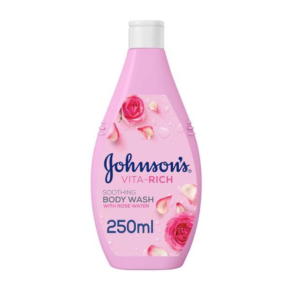 جونسون صابون سائل للإستحمام مع ماء الورد 250 مل