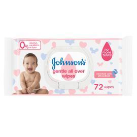 جونسون مناديل لتنظيف لطيف لكامل البشرة 72 منديل
