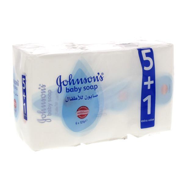 جونسون صابون للاطفال عادي 5 1 مجانا 125 جم