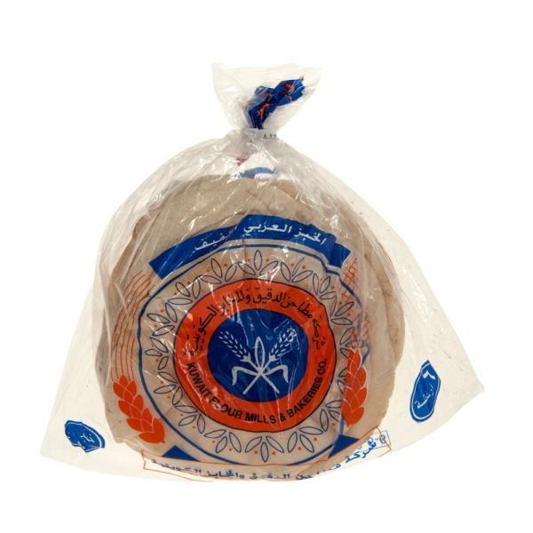 خبز عربي خفيف ابيض 50 جرام