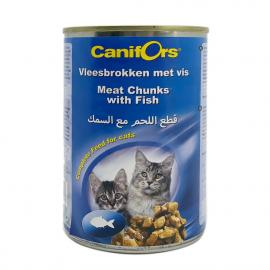 كانيفورس غداء القطط قطع اللحم مع السمك 410 جرام