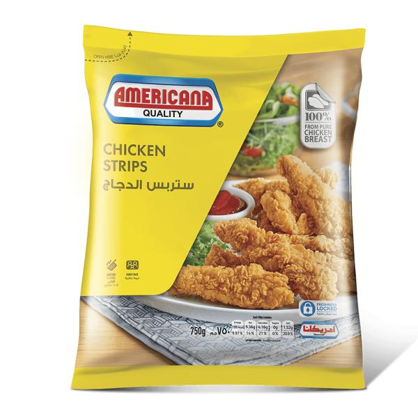 امريكانا ستربس دجاج عائلى 750 جم