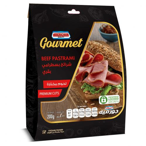 AMERICANA GOURMET BEEF PASTARAMI SLICES 200G