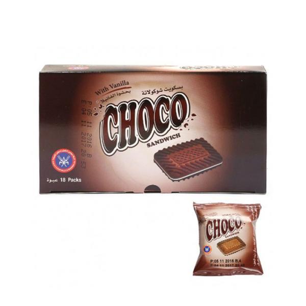 المطاحن بسكويت شوكولاتة بحشوة الفانيلا 18 باكت