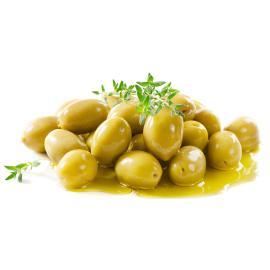 زيتون أخضر لبناني بالزعتر- 250 جم