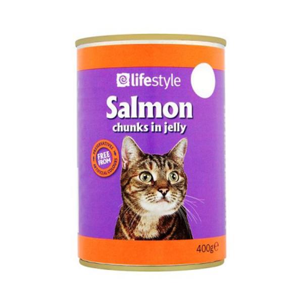 لايف ستايل أكل قطط بالسالمون 400 جم