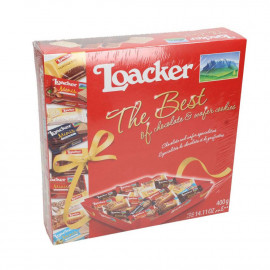 LOACKER THE BEST OF CHOCOLATE AND WAFER COOKIES 400G