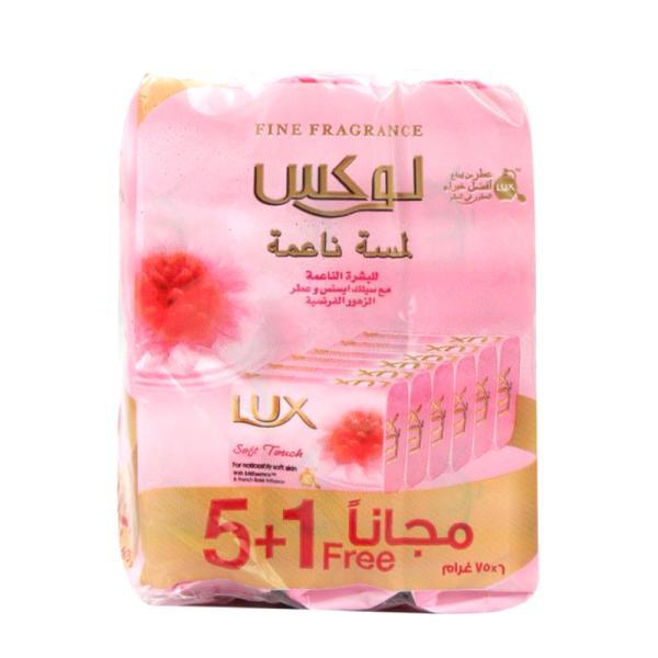 لوكس صابون بالورد الفرنسى وزيت اللوز 75 جرام - 6 حبة