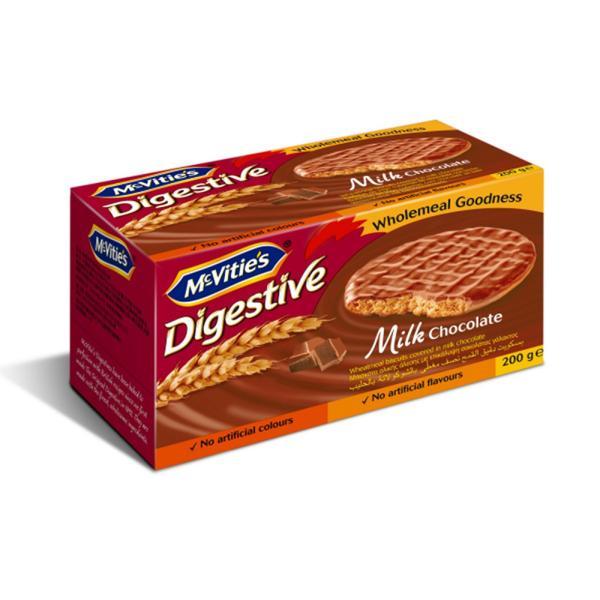 MCVITIES DIGESTIVE MILK CHOCOLATE 200G