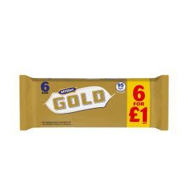 MCVITIES GOLD 6 BARS 106 GM