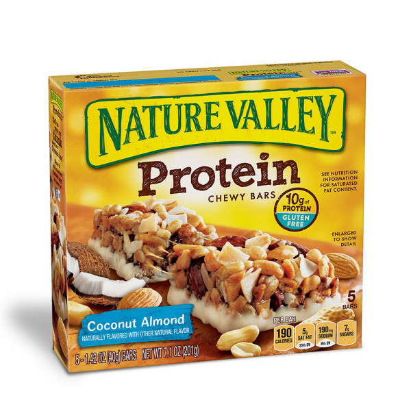 ناتشر فالي البروتين جوز الهند ولوز 40جم