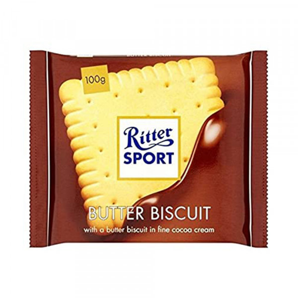 RITTER SPORT BUTTER BISCUIT CHOCO 100G
