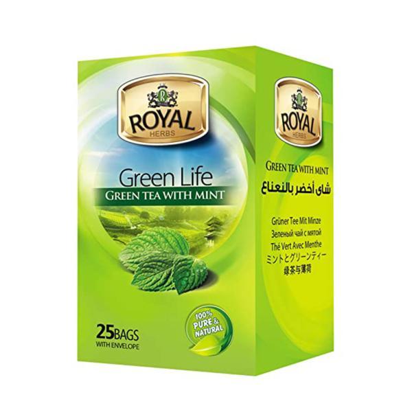 رويال شاى اخضر بالنعناع 25 باكيت